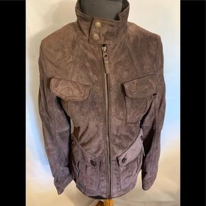 Timberland women's small leather jacket with belts